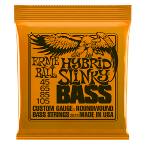 MUTA DI CORDE ERNIE BALL POWER SLINKY NICKEL WOUND 2833 PER BASSO 45-105