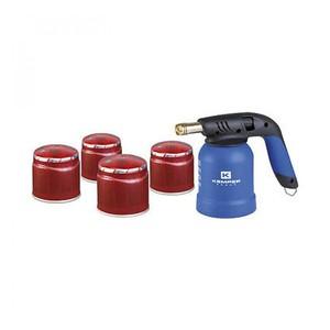 Saldatore a caruccia gas in kit con 4 cartucce comprese kemper