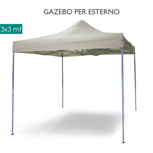 GAZEBO CHIUDIBILE A FISARMONICA MIS. 3X3 BIANCO