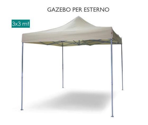 Gazebo Chiudibile A Fisarmonica Mis 3x3 Bianco Ferramenta Panigutti