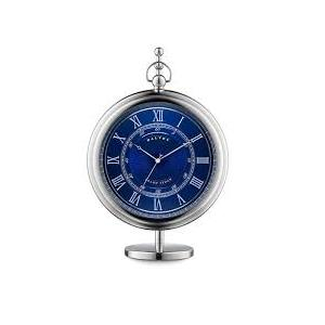 Grand Sedan Clock&Stand orologio da tavolo quadrate blu