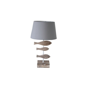 Lampada da tavolo con pesci STILE SHABBY -  H44xD25 cm