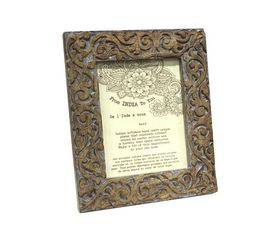 Portafoto cornice da tavolo in legno intarsiato fiori - Portafoto da tavolo ...