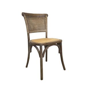 Sedia intrecciata in legno e paglia di Vienna VINTAGE - h90x45x50 cm