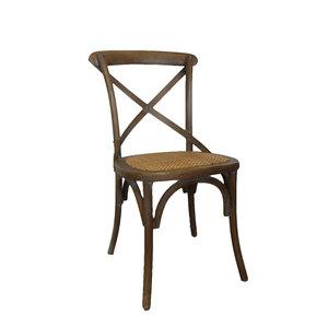 Sedia intrecciata in legno e paglia di Vienna VINTAGE -  h90x45x50