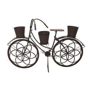 Bicicletta portapiante anticata in ferro arredo giardino collezione FRANCE - cm 120x35x82h