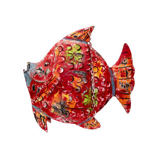 Pesce portacandele in ferro animale decorativo COLLEZIONE ANIMAL - 60x63x20 cm