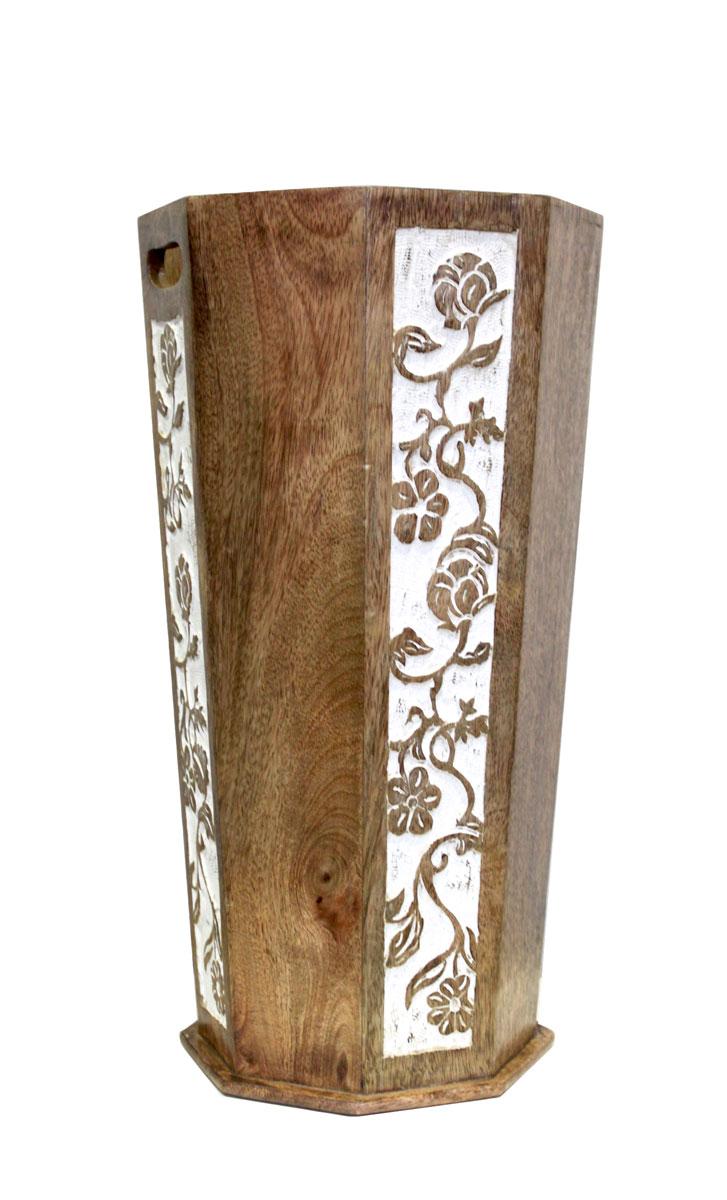 Portaombrelli in legno e ottone decorato stile orientale arredo ...