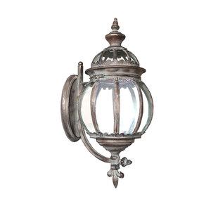 Lanterna ramata tonda da muro elettrificata ideale per interno ed esterno LINEA SHABBY - 55x25x35cm