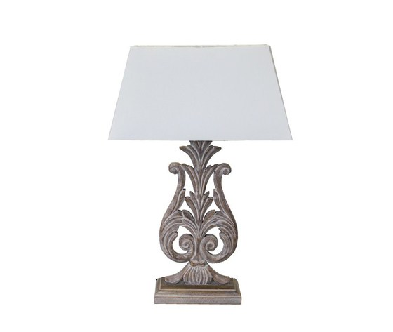 Lampada Da Appoggio Da Tavolo In Legno Con Paralume Bianco Lira
