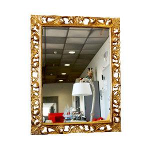 Specchio oro rettangolare