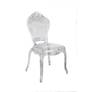 Coppia due sedie in stile barocco in plexiglass GHOST - h98x44x49 cm