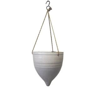 Fioriera da appendere in ceramica ideale come decorazione - 20x18 cm