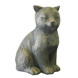 Gattino in resina ideale come complemento di arredo - h25x18x14 cm