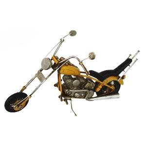 Chopper giallo modellino decorativo ideale come complemento di arredo VINTAGE - h12x24  cm