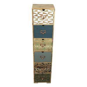 COLONNA 6 CASSETTI NORDIC H106xL24xP20 cm