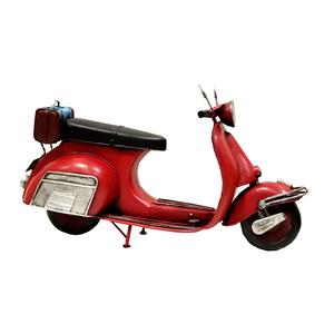 Vespa rossa modellino decorativo ideale come complemento di arredo VINTAGE -  30x10x17h cm