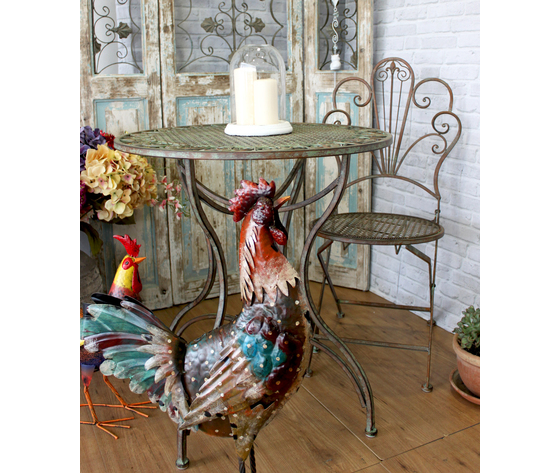 Set tavolo 2 sedie arredo giardino ferro keyhome store for Arredo giardino ferro
