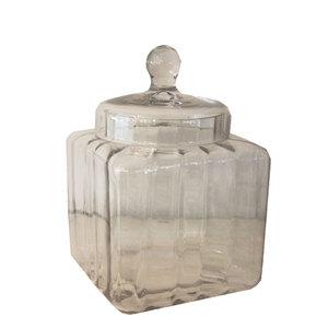Barattolo portabiscotti in vetro con coperchio linea ELEGANCE ideale per arredamento - 20x20x30 cm