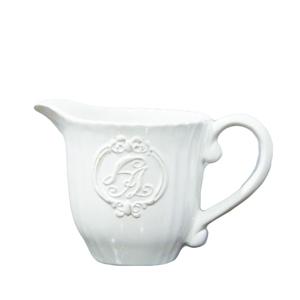 Lattiera in ceramica bianca ideale per prima colazione - altezza 9 cm