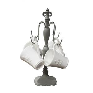 Set 4 tazze mug in ceramica bianca ideale per prima colazione - altezza 40 cm