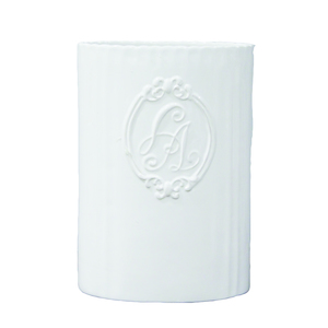 Vaso in ceramica bianca ideale per prima colazione - 17x24x12 cm