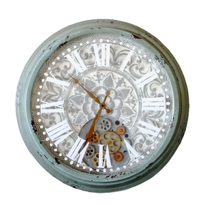 Orologio da parete con ingranaggi decorativo - diametro 60 cm