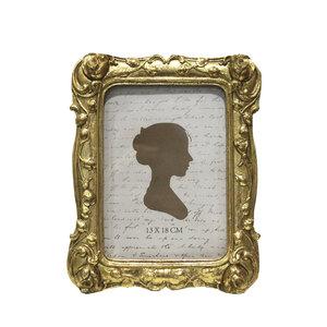 Portafoto rettangolare in resina da tavolo oro linea GOLD - 24x2x19 cm