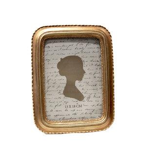 Portafoto rettangolare in resina da tavolo oro linea GOLD - 22x2x17 cm