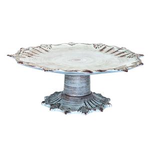 ALZATA PORTA TORTA IN CERAMICA TURCHESE PER ARREDO CUCINA 15x32 cm
