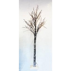 Albero natale luminoso luce a led marrone innevato - altezza cm 160