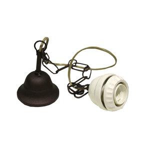CATENA IN OTTONE PER SOSPENSIONE LAMPADARI IN CERAMICA COMPLETA DI CAVO ELETTRICO E PORTALAMPADA IN CERAMICA