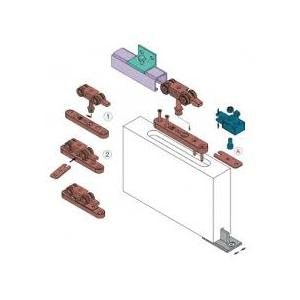 Kit per porte a filo System 0450/4 80Kg