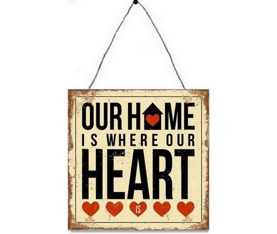 Targa in metallo home heart