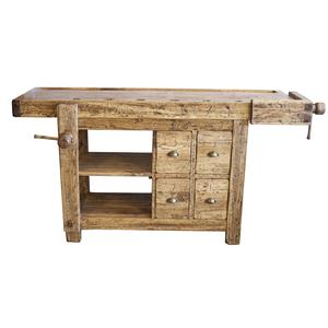 Banco da falegname con cassetti legno