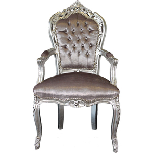 Poltrona barocco argento