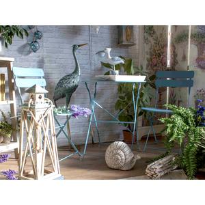 Tavolo e sedie da giardino in ferro colore azzurro
