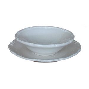 Coppia piatti ceramica bianco