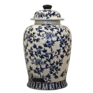 Potiches ceramica decorazioni blu