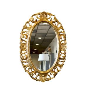 Specchio ovale oro