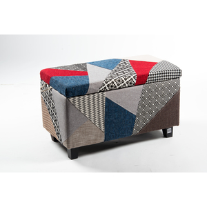 Pouf contenitore patchwork