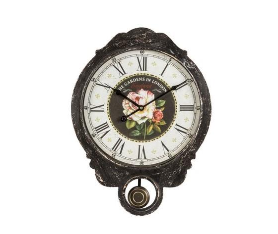 orologia a pendolo e cornice nera