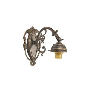 Applique in ottone barocco 1 luce