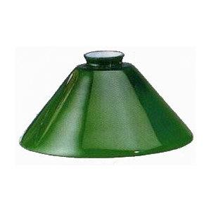 Paralume in vetro cono verde 25 cm