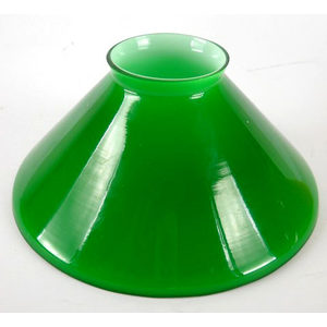 Paralume vetro cono verde 15 cm