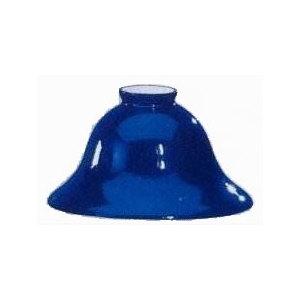 Paralume vetro blu 18 cm