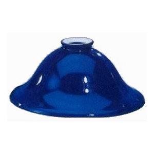 Paralume vetro blu 21 cm