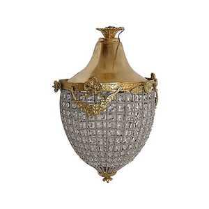 Lampadario pigna vetro e oro