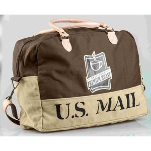 """Borsone da viaggio cotone con tracolla """"Us mail"""