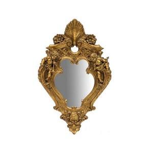 Specchio resina oro barocco putti